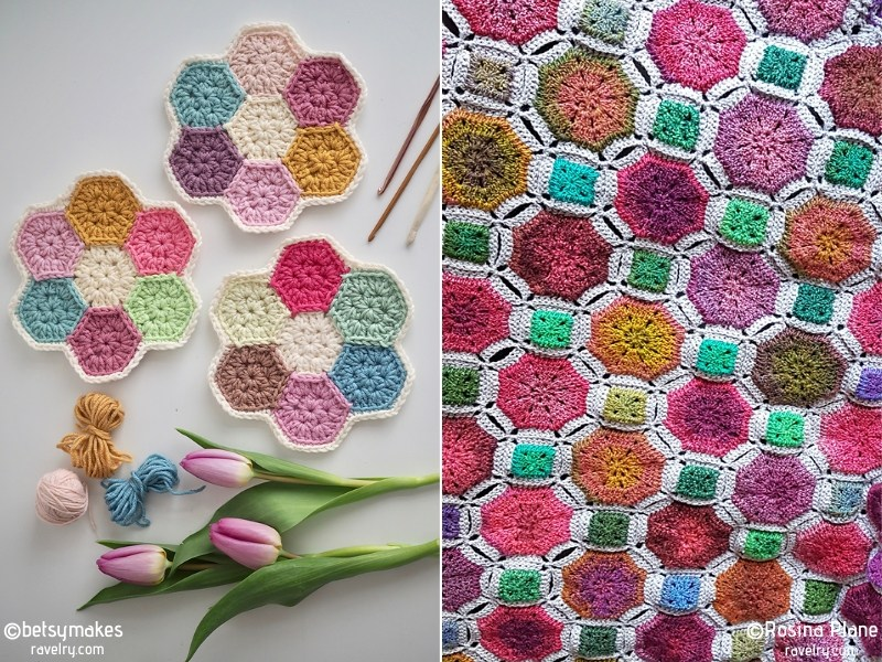 Colorful Crochet Tiles Free Patterns
