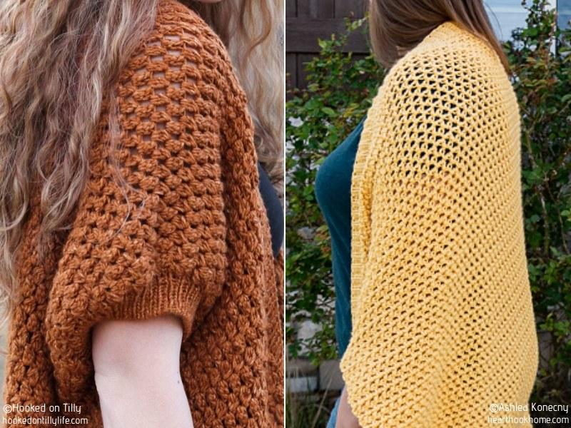 Comfy Crochet Shrugs Free Patterns