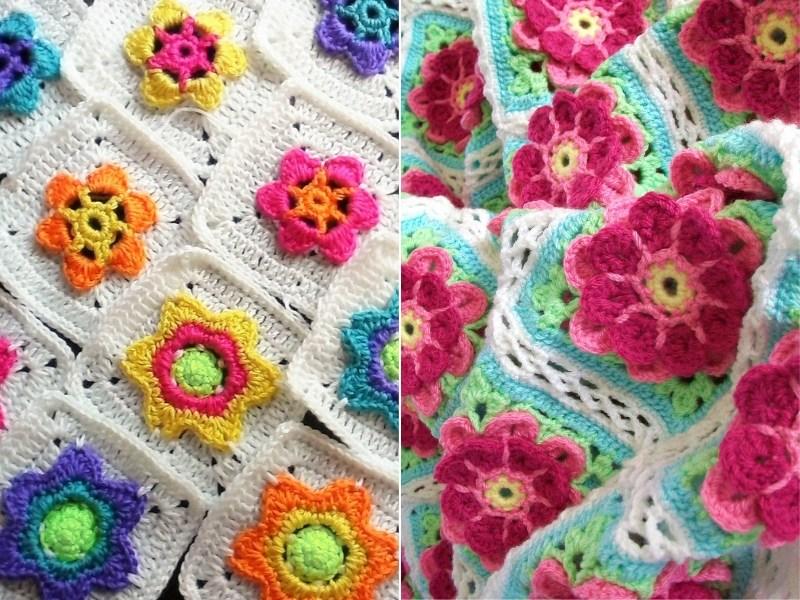 Crochet Meadow Blankets Free Patterns