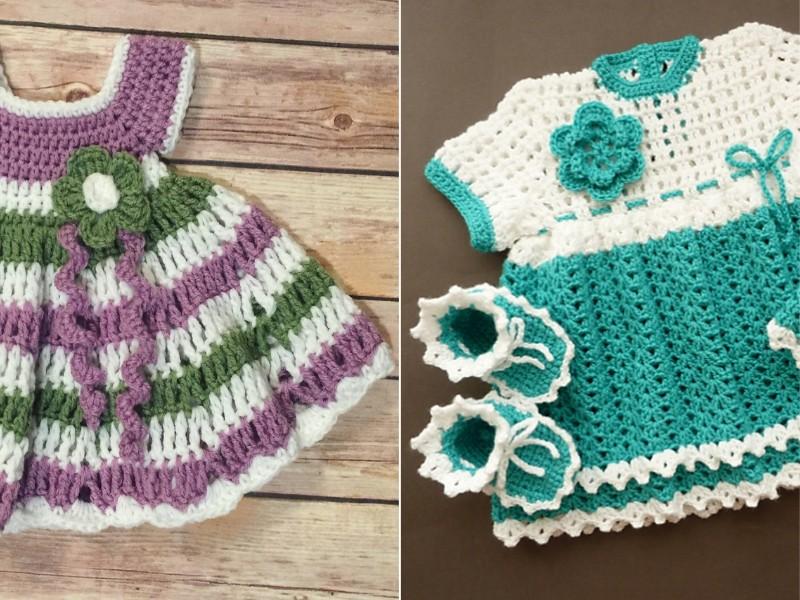 Festive Baby Dresses Free Crochet Patterns