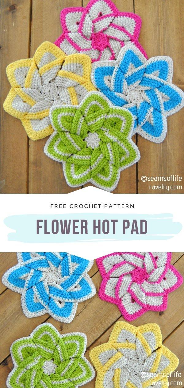 Flower Crochet Hot Pad