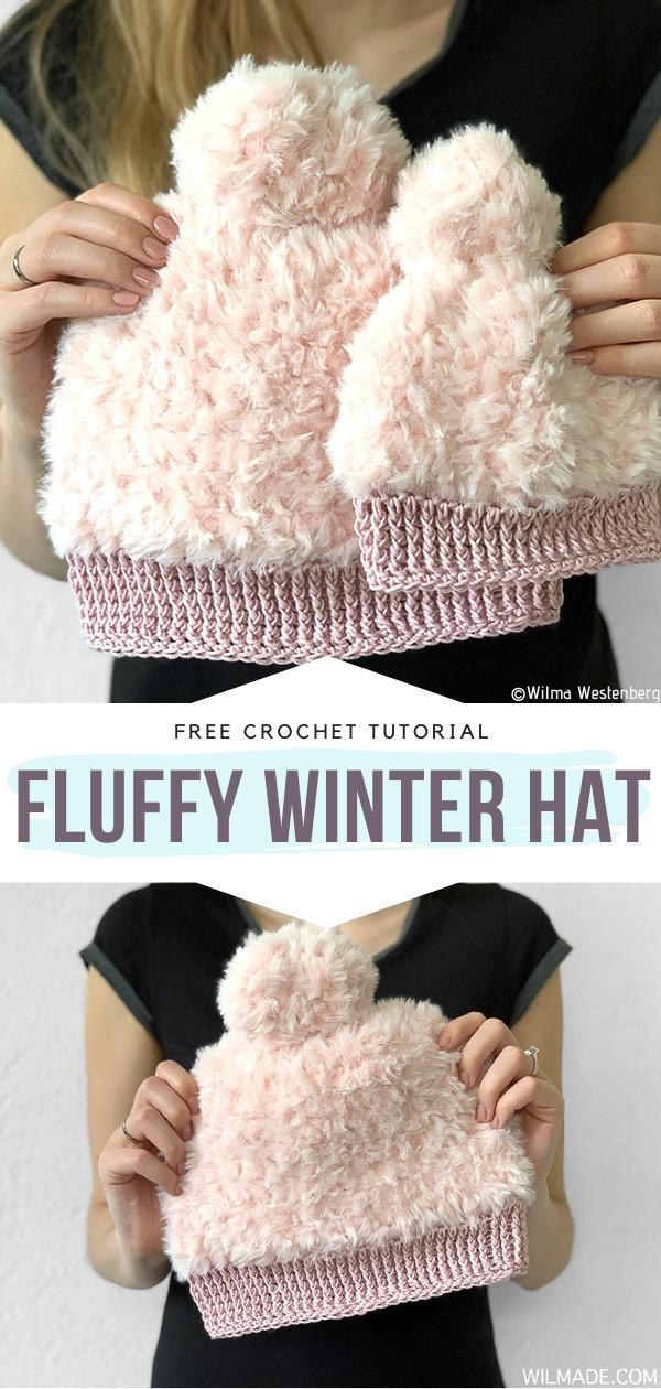 Fluffy Winter Hat Free Crochet Pattern