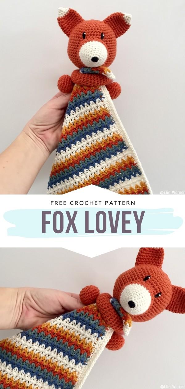 Fox lovey Free Crochet Pattern