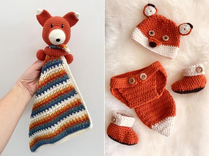 Foxy Baby Accessories Free Crochet Patterns