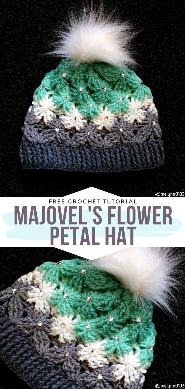 Majovel's Flower Petal Hat Free Crochet Pattern