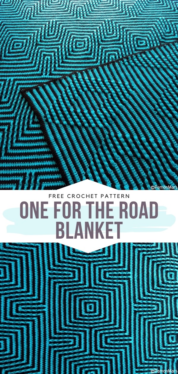 One for the Road Blanket Free Crochet Pattern