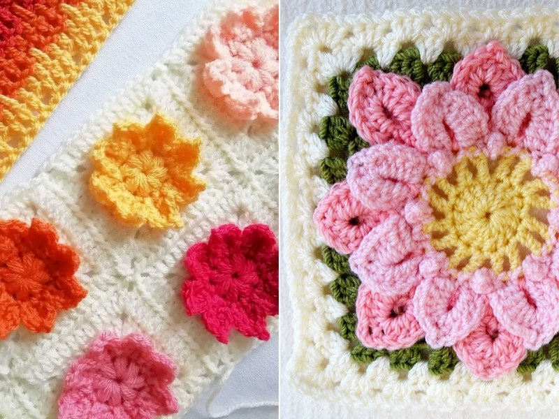 Precious Flower Blocks Free Crochet Patterns