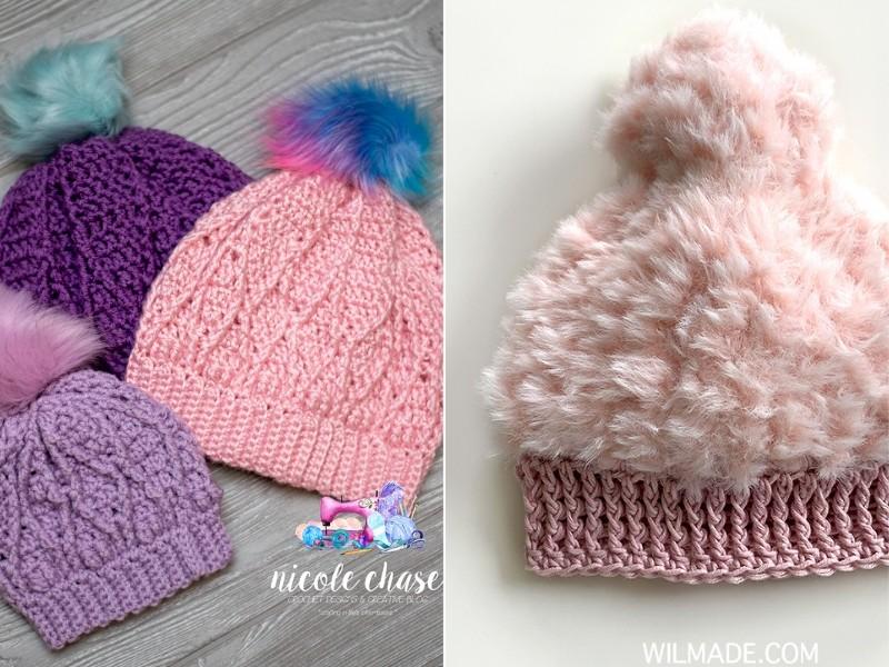 Colorful Crochet Hats Free Patterns