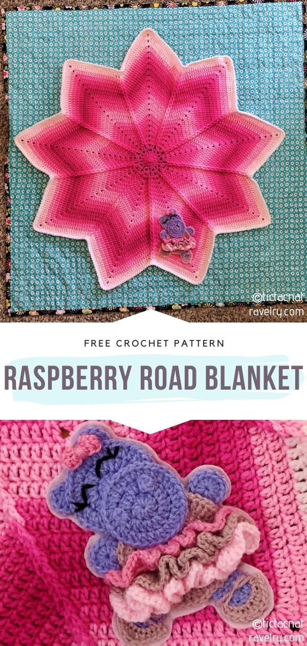 Raspberry Crochet Blanket