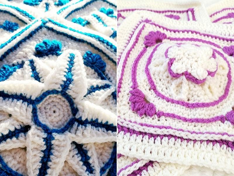 Stunning Afghan Blocks Free Crochet Patterns