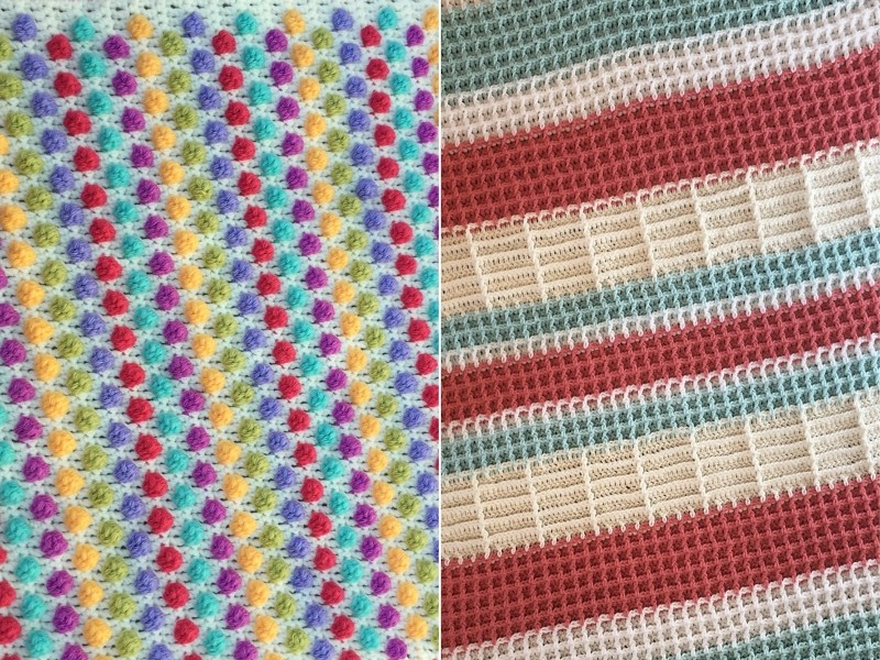 Textural Blankets Free Crochet Patterns