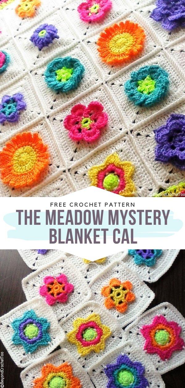 The Meadow Mystery Blanket CAL Free Crochet Pattern