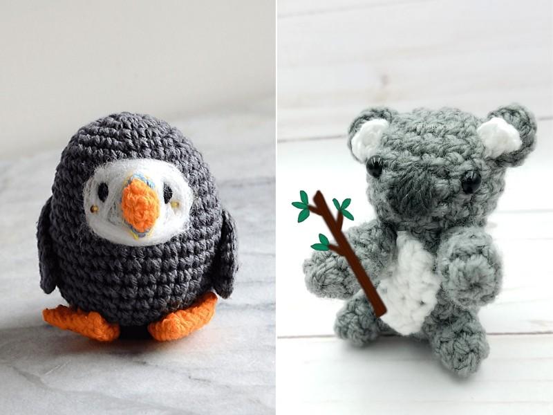 Tiny Grey Amigurumi Free Crochet Patterns