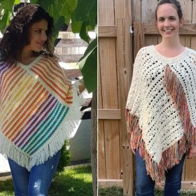 Beginner-Friendly Ponchos with Free Crochet Patterns
