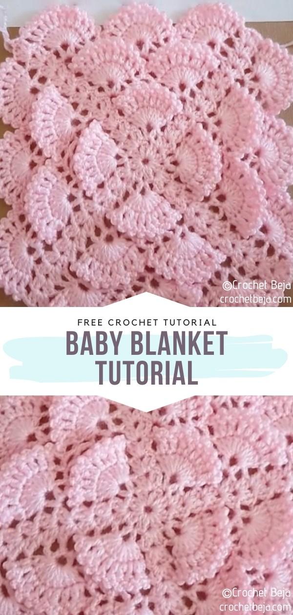 Shell Stitch Crochet Baby Blanket Tutorial