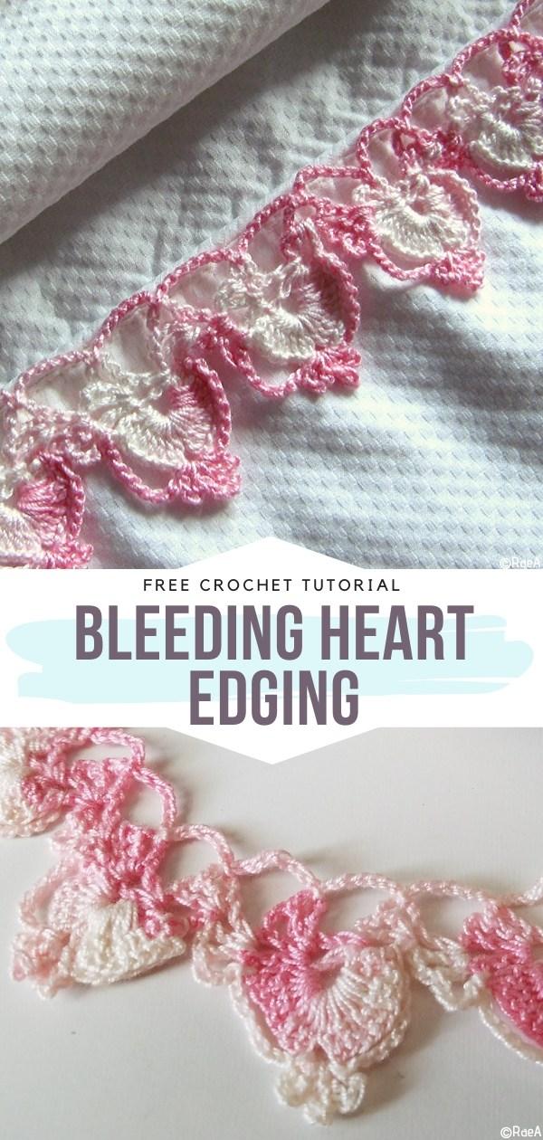Bleeding Heart Edging Free Crochet Pattern