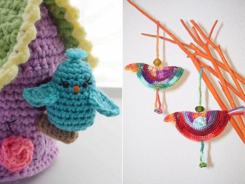 Colorful Birds Free Crochet Patterns