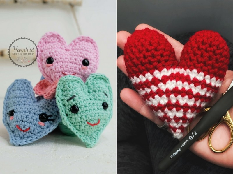 Crochet Hearts for Beginners Free Patterns