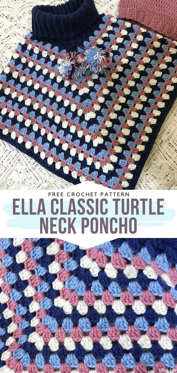 Turtle Neck Poncho