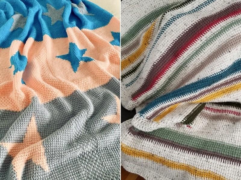 Tunisian Crochet Blankets Free Patterns