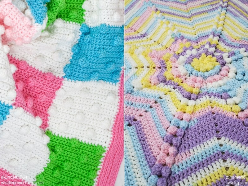 Bobble Stitch Baby Blankets