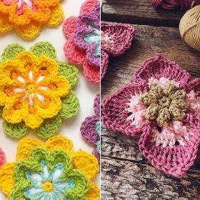 Gorgeous Flowers Free Crochet Patterns