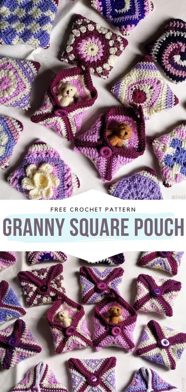 Granny Square Pouch