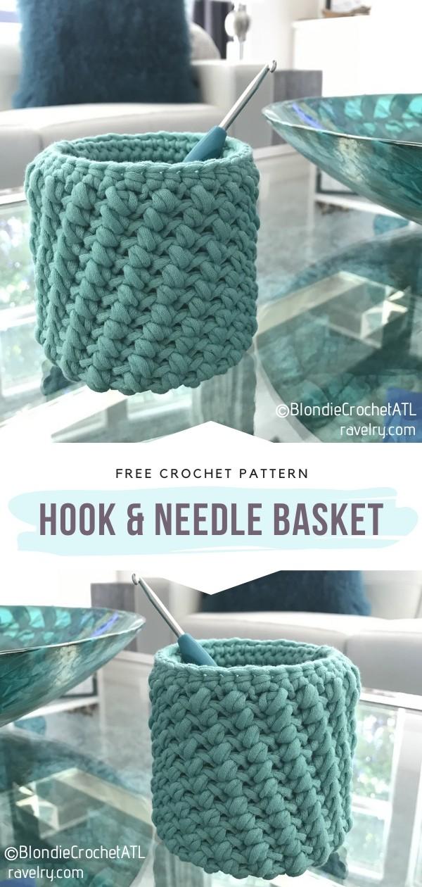 Hook & Needle Crochet Basket
