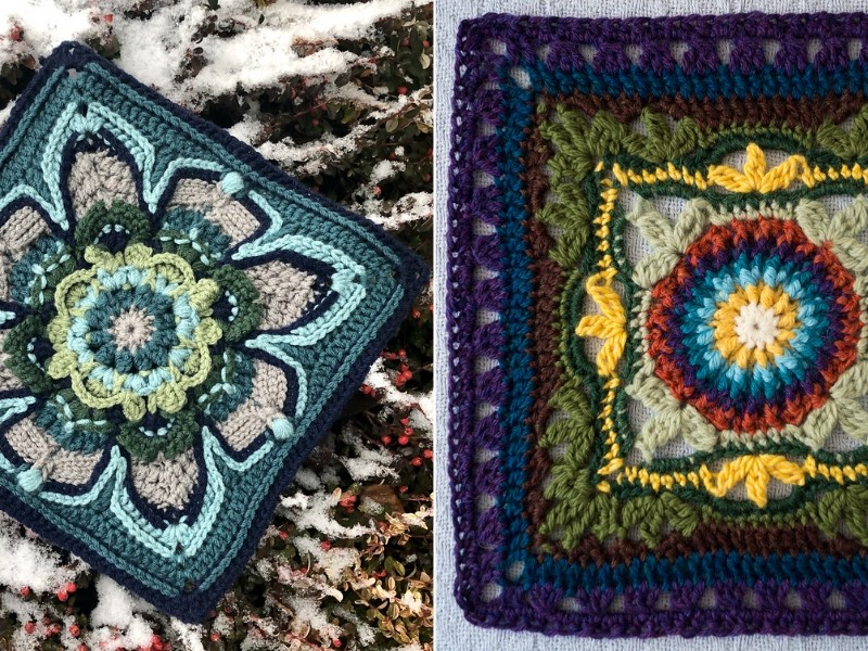 """12"""" Afghan Squares Free Crochet Patterns"""