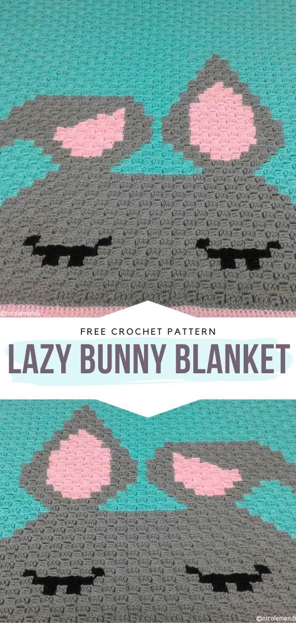 Lazy Bunny Blanket Free Crochet Pattern