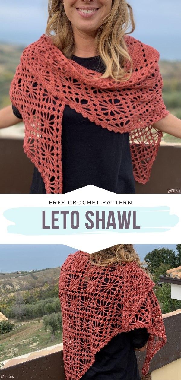 Leto Shawl Free Crochet Pattern