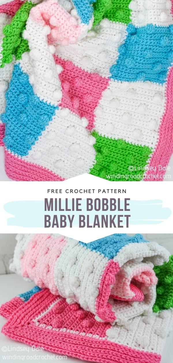 Millie Crochet Bobble Baby Blanket