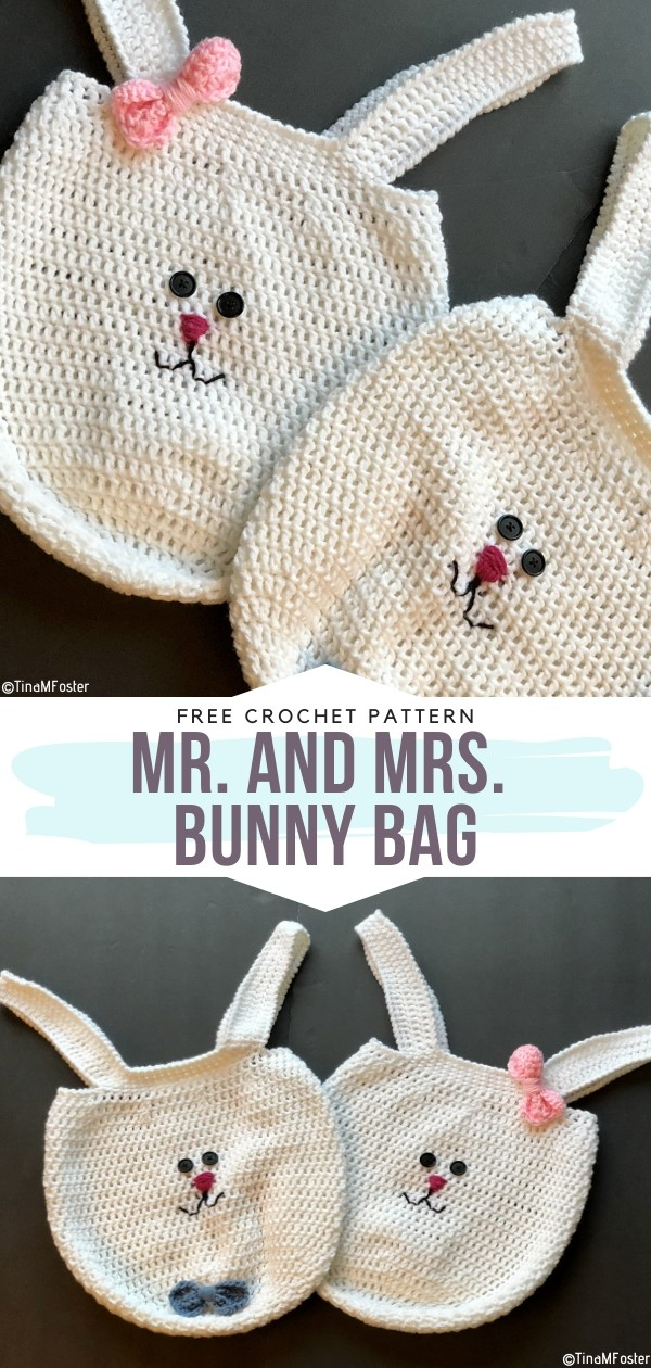 Mr. and Mrs. Bunny Bag Free Crochet Patterns
