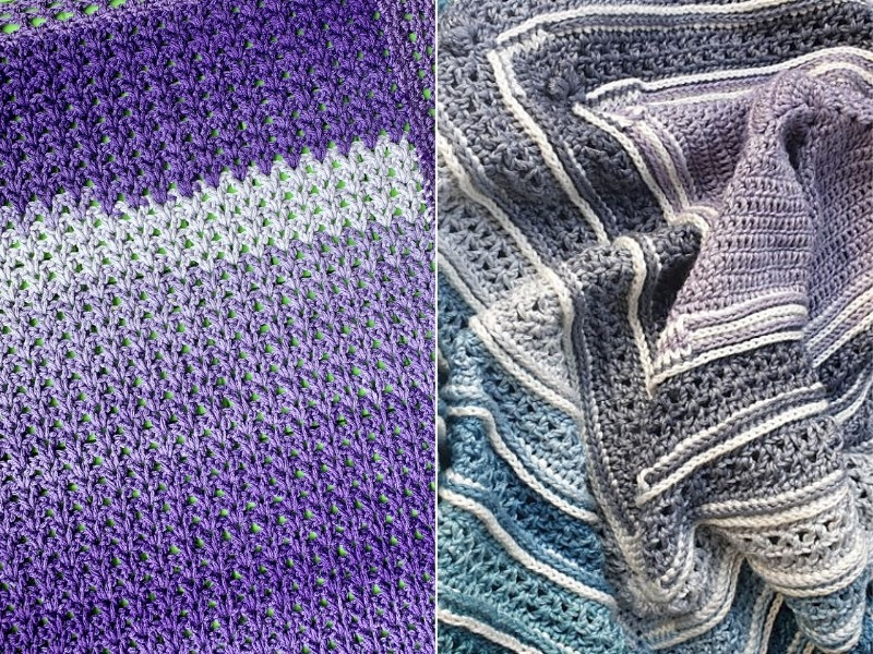 Ombre Blankets Free Crochet Patterns