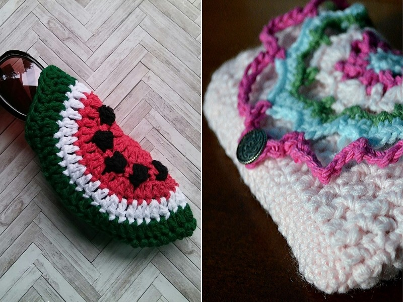 Lovely Pouches Free Crochet Patterns