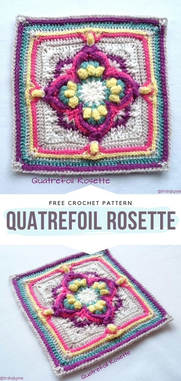 Quatrefoil Rosette Free Crochet Pattern