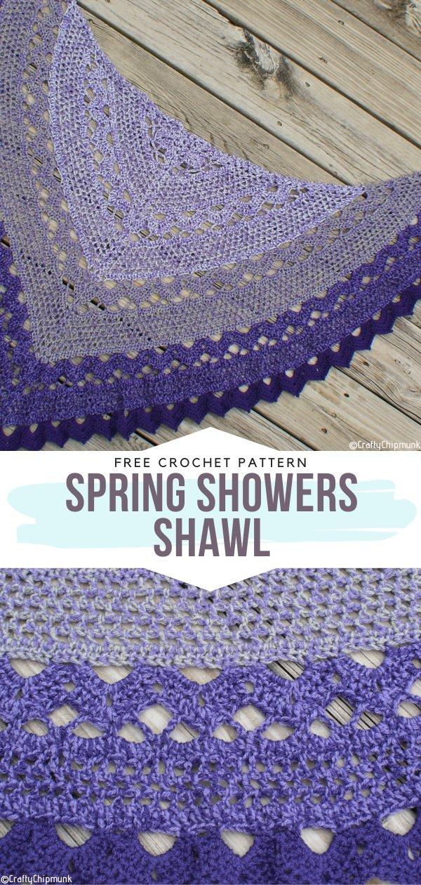 Spring Showers Shawl Free Crochet Pattern