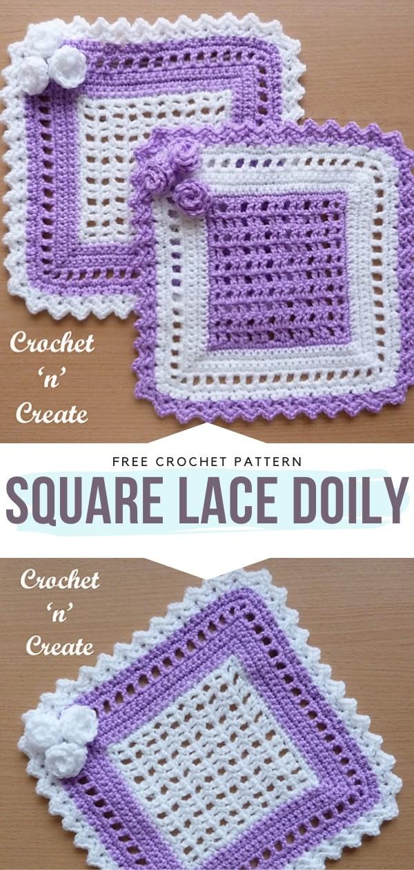 Square Lace Doily Free Crochet Patterns
