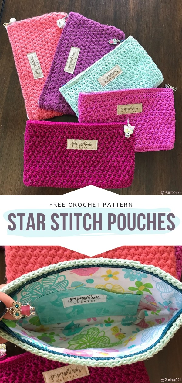 Star Stitch Pouches