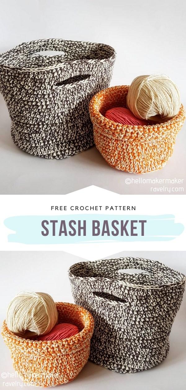 Stash Crochet Basket