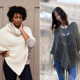 Stylish Ponchos Free Crochet Patterns