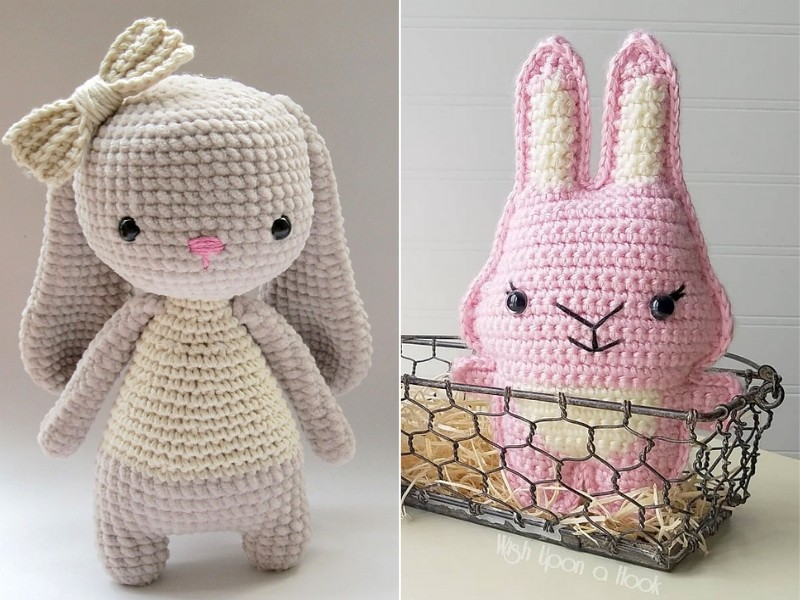 Sweet Crochet Bunnies Free Patterns