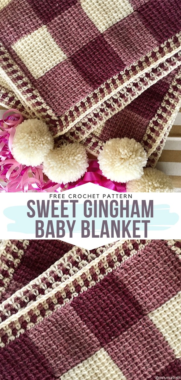 Gingham Baby Blanket