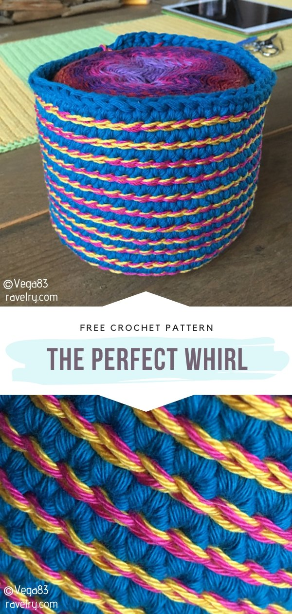 The Perfect Whirl Crochet Basket