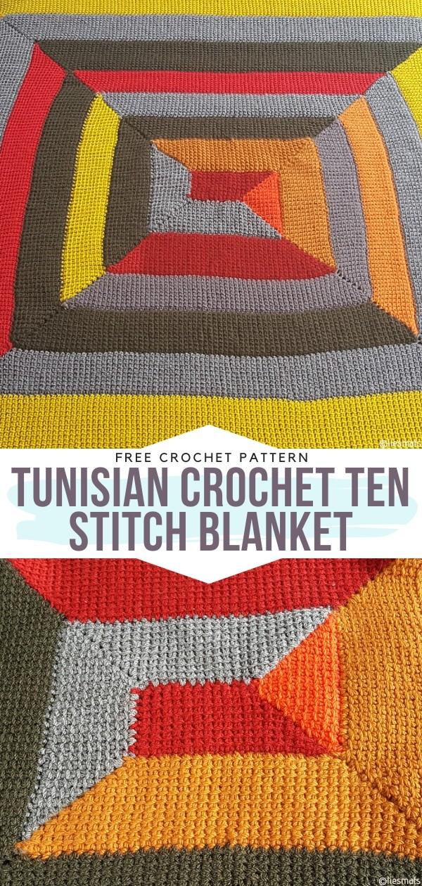 Tunisian Crochet Ten Stitch Blanket