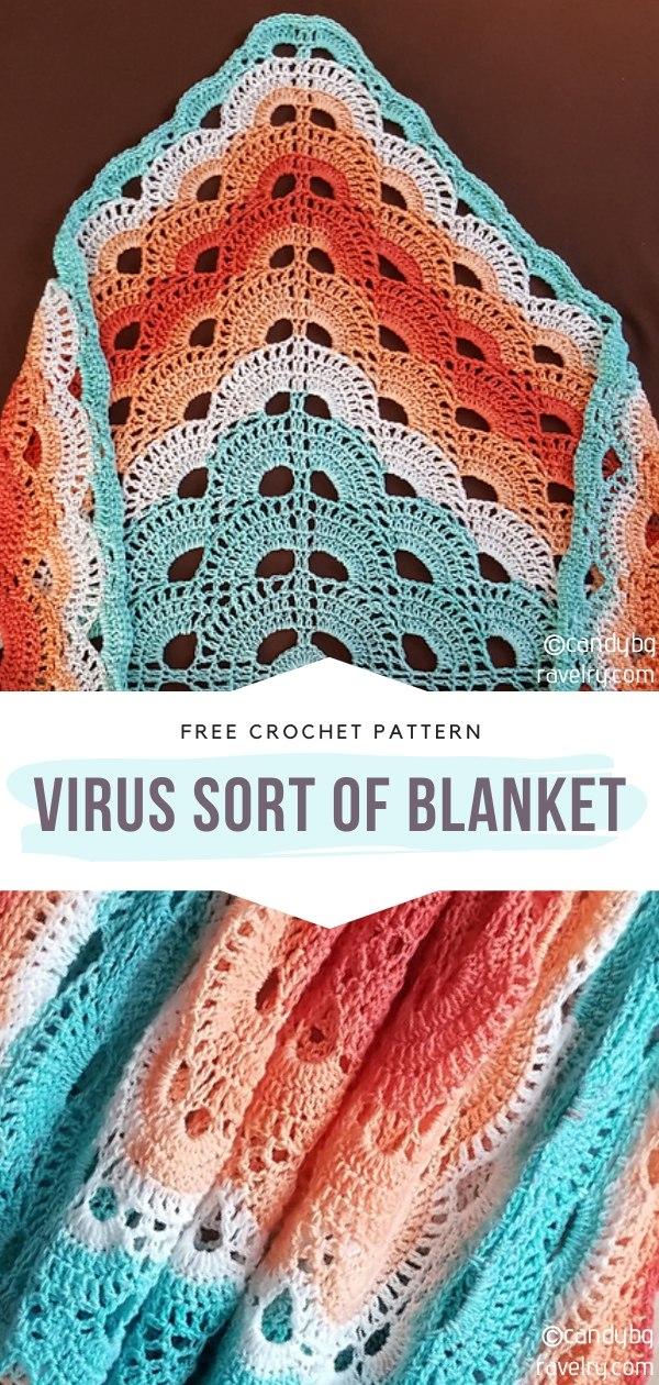Virus Sort of Crochet Blanket