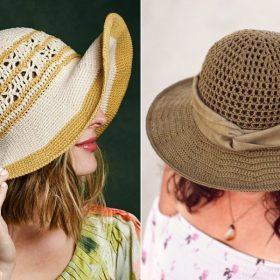 Fabulous Crochet Sunhats with Free Patterns