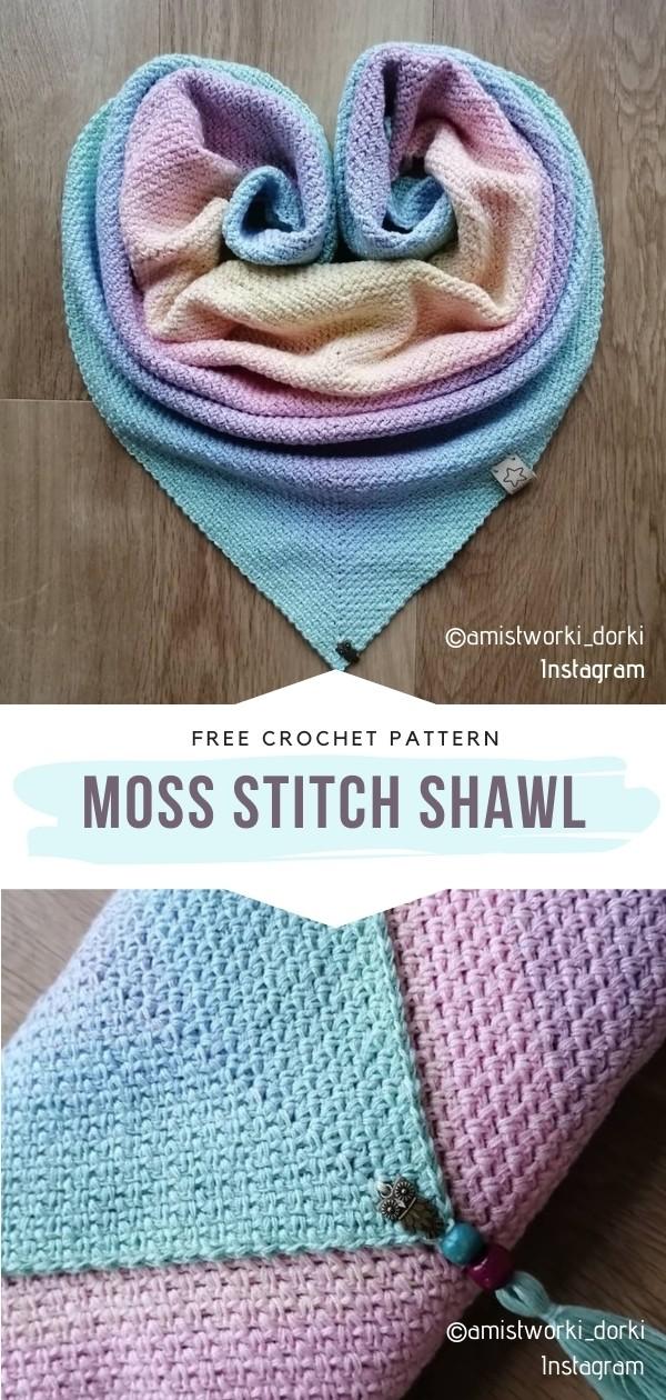 Moss Stitch Shawl