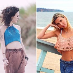 Boho Crop Tops with Free Crochet Patterns