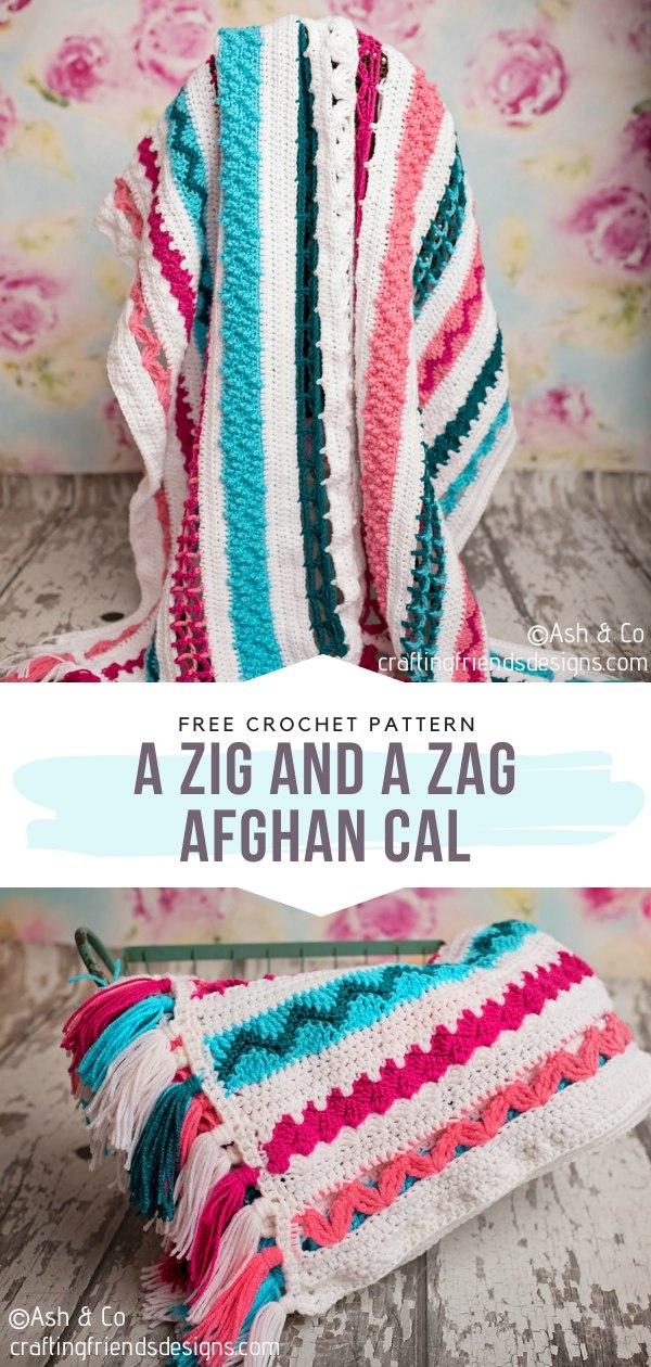 A Zig and A Zag Afghan CAL